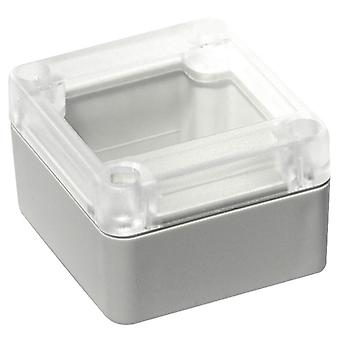 Hammond RP1025C Watertight ABS Enclosure 65 x 60 x 40 Clear Lid Grey