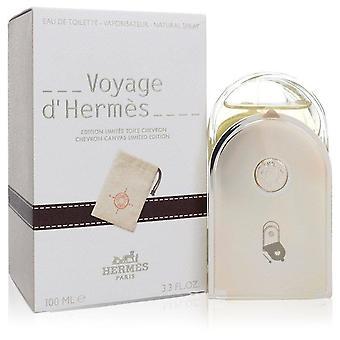 Voyage d'hermes eau de toilette spray with pouch (unisex) by hermes 555193 100 ml