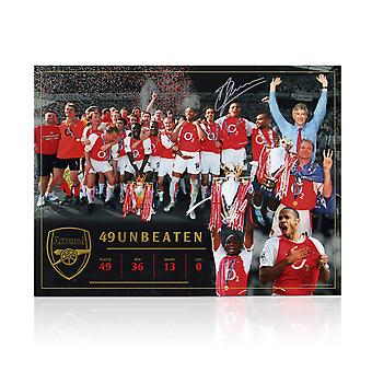 Dennis Bergkamp Signed Arsenal Photo: Invincibles