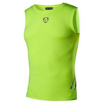 Miesten 's Quick Dry Slim Fit Hihaton Sport Tank Toppit Paidat, Workout Running
