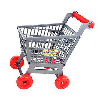 Plastic Kids Shopping Hand Trolley Cart Child Pretend Play Kitchen Toy