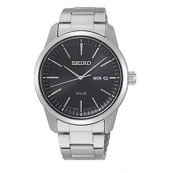 Titta Seiko SNE527P1-CLASSIC MAN Dateur silver Steel Armband trä tier silver stål män