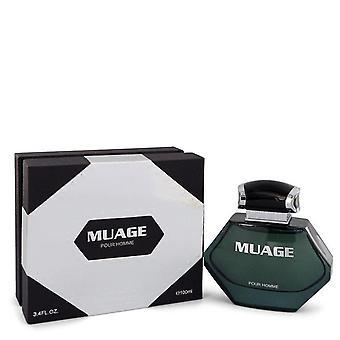 Muage Pour Homme Eau De Toilette Spray By Muage 3.4 oz Eau De Toilette Spray