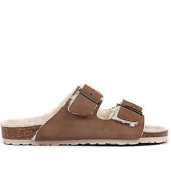 Jones Bootmaker Womens Lia Suede Mule Sandals
