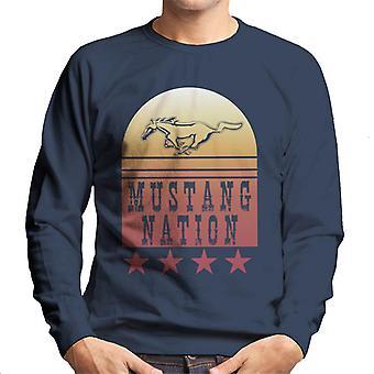 Ford Mustang Nation Gradient Heren Sweatshirt