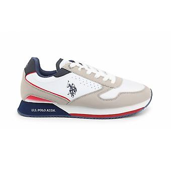 Shoes U.S. Polo Sneaker Running Nobil 183 Ecosuede White/ Light Grey Men Us21up01