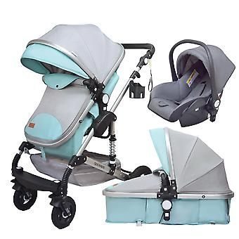3 In 1 Baby Multifunctional High Landscape Stroller