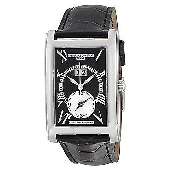 Frederique Constant Classics Carree Watch Black Dial Black Leather Strap FC-325BS4C26