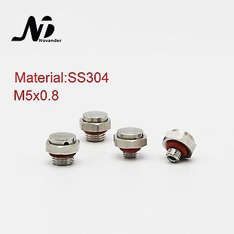 M5*0.8 Waterproof Metal Screw Vent Plug Ss304 M5x0.8 Stainless Steel Breathable