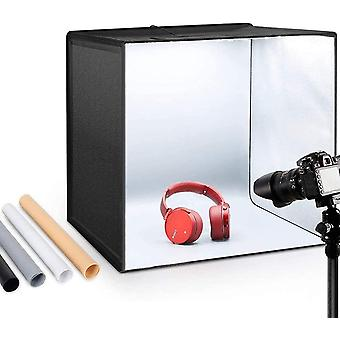 Wokex Foto Zelte 50x50x50 cm Leuchtkasten Fotostudio Tragbare Faltbare Studiobox LED Beleuchtung mit