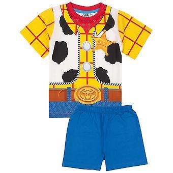 Disney Toy Story Pyjamas For Boys | Kids Woody Cowboy Character Pjs | Sheriff T Shirt & Shorts Clothing Merchandise