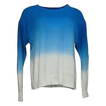 All Worthy Hunter McGrady Women's Sweater Dip-Dye Shaker Blue A392065