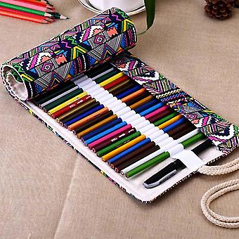 Canvas Wrap Roll Up Pencil Bag