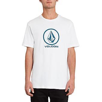 Volcom Hombres's Camiseta de algodón orgánico ~ Blanco piedra crujiente