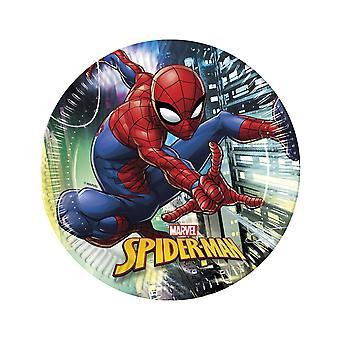 8 Assiettes en carton Spiderman 23 cm