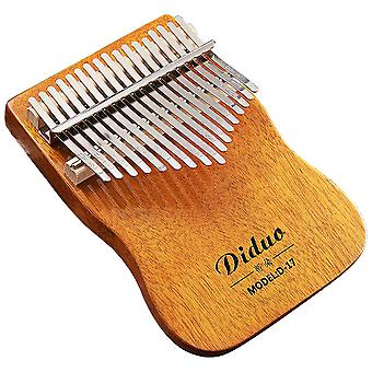 Kalimba Thumb Piano 17keys Professional Portable Musical Instrument For Adult Orange