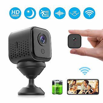 كاميرا تجسس، FHD 1080P واي فاي كاميرا مراقبة الأمن السري المحمولة اللاسلكية 300 دقيقة مدة كاميرا تجسس مصغرة مع الرؤية الليلية، والكشف عن الحركة، عرض عن بعد