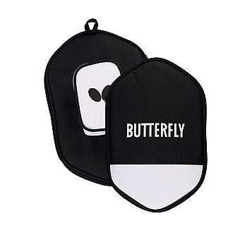 Butterfly Table Tennis Bat Cell Case - Square (Black/White)