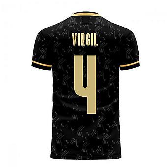 Liverpool 2020-2021 Auswärtskonzept Fußball Kit (Libero) (VIRGIL 4)
