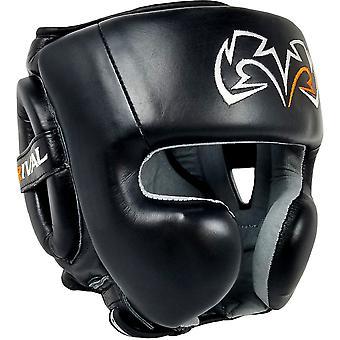 Rival Boksen RHG30 Mexicaanse Stijl Cheek Protector Hoofddeksel - Groot - Zwart / Zwart