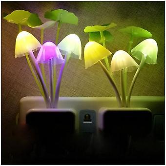 7 Színváltó Alkonyattól hajnalig Érzékelő Virág Led Éjjeli fény