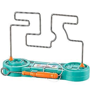 Eucalyptus grønne elektrisk stød legetøj touch labyrint wire spil for børn kollision cai1645