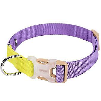 L الأرجواني + الأصفر قابل للتعديل ودائم طوق الحيوانات الأليفة لجميع حجم الكلب az6557