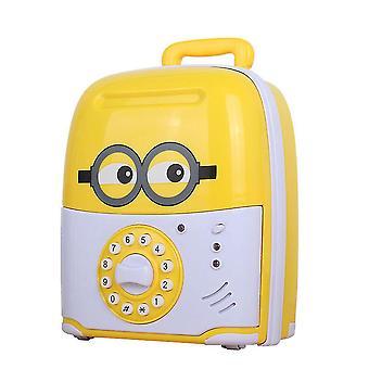 New Cartoon Trolley Case Piggy Bank Automatic Roll Money Box Password Box ES9341