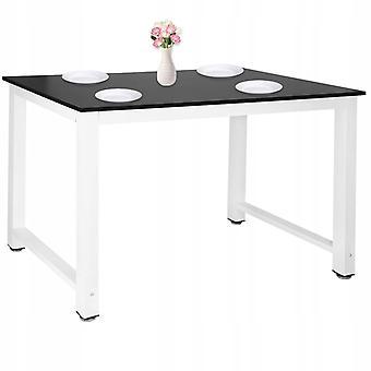 Küchentisch Esstisch 110 x 60 x 74 cm – Schwarz + Weiß