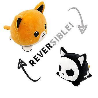 Oranssit uudet lelut flip söpö kissa pehmolelut muhkeat lelut kaksipuolinen ilmeet dt8232