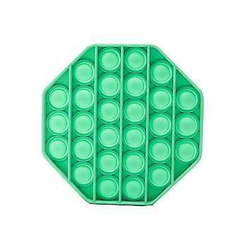 Push Pop Bubble Fidget Legetøj Sensorisk Set Autisme Adhd Stress Relief Toy (Grøn Octagon)