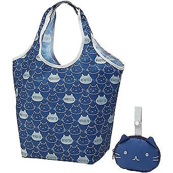 Bolsa portátil plegable portátil bolsa de compras de gran capacidad almacenamiento bolsa de compras