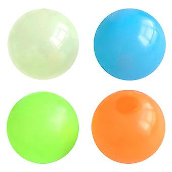4pcs Tpr זוהר סקווישי כדור צעצועים ילדים למצוץ כדור צעצוע