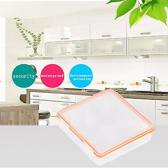 Transparent And Orange 4 Cell 18650 Battery Storage Case Waterproof Battery Box