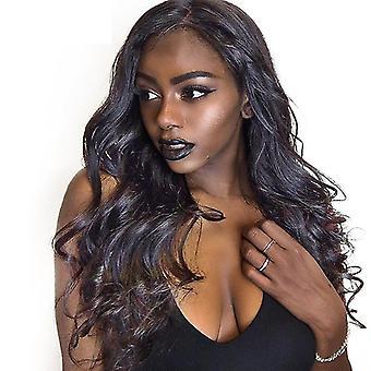 Lady Bangs Long Curly Wig(Black)