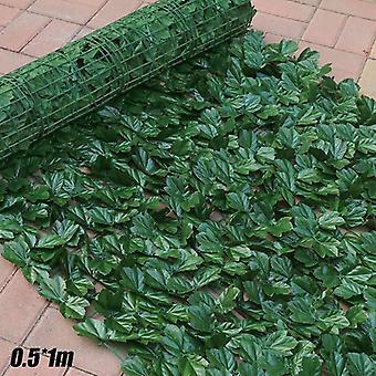 (D (0,5 * 1M)) Sztuczny bluszcz winorośl faux Leaf Garland Fałszywe folie Privacy Fence 0.5 * 1M