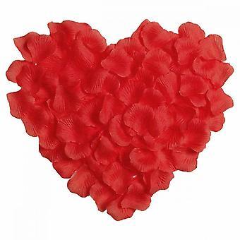 Rose Petals, 300pcs Silk Cloth Simulation Rose Petals Wedding  Valentine Day Flower  Decoration(red)