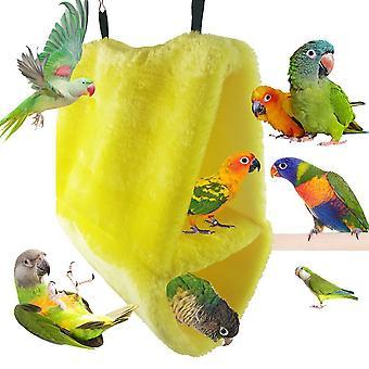 Soft Plüsch Haustier Vogel Papagei Sittensittich Wellensittich Warm Hängematte Käfig Warmes Nest Etagenbett Nests Hängende Höhle