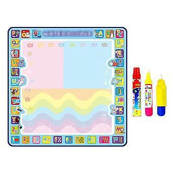 Coolplay Magic Water Drawing Mat Coloring Doodle Mat Pens Painting Board