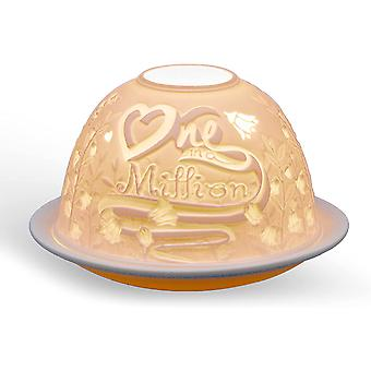 Light Glow Dome Tealight Holder, One in a Million