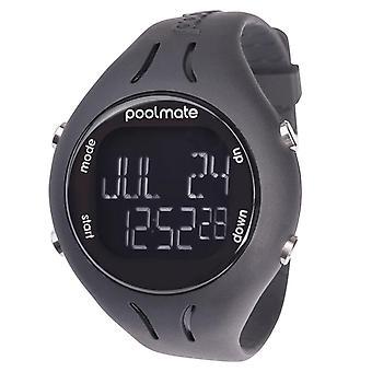 Swimovate Poolmate 2 Swimming Water Sports Lap Counter Tracker Watch Black