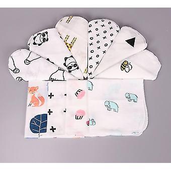 Baby katoenen mousseline handdoek twee lagen veeg zakdoeken