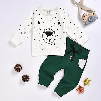 Nou-născut Baby Clothes Roupa Cartoon Bear Sweatshirt Tops + Pantaloni Utilaje Set