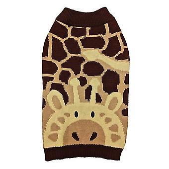 Fashion Pet Giraffe Dog Sweater Brown - XX-Small