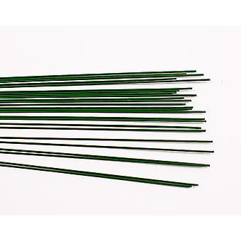 30 verde barnizado 0.8mm Floristry Stub Alambres - 30cm de largo