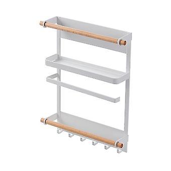 Magneet koelkast plank papieren handdoek roll houder magnetische opslag rack spice hang rack decoratief metaal