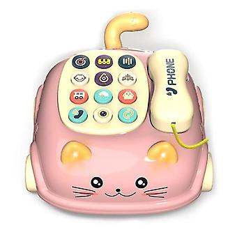 Multifunctional Telephone Cat Model Early Education Puzzle Toy Baby