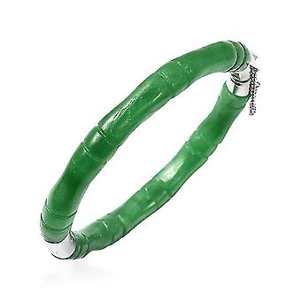 """TJC Jade Bamboe Armband voor vrouwen in zilveren cadeau voor natuurliefhebber 7.5"""", 150ct"""