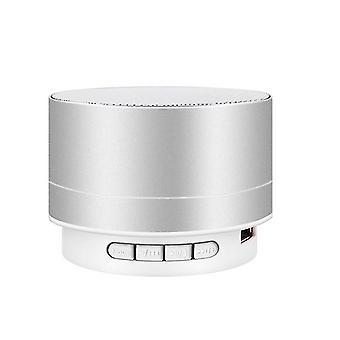 USB Bezdrátový bluetooth reproduktor, Mini subwoofer venkovní přehrávač (Silver)