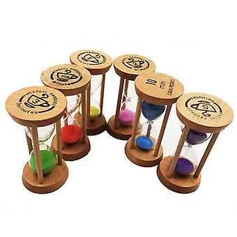 Wooden Hourglass 30 Seconds+1 + 2 + 3 + 5 +10 Minute Timer Creative Gift Study Decoration